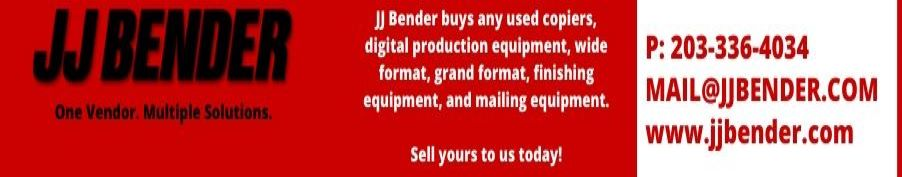 jj bender buys used copiers, and digital production equipment